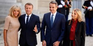 Kiriakos Mitsotakis and Emmanouel Macron